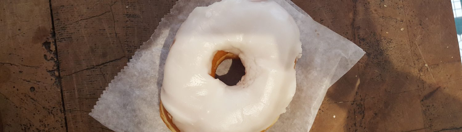 Orwasher's White Frosted Donut - Top