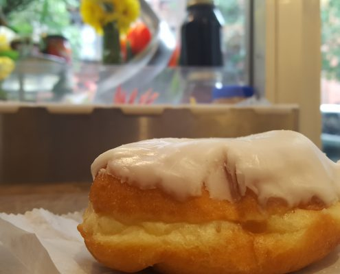 Orwasher's White Frosted Donut - Side