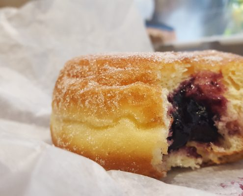 Orwasher's Blueberry-Filled Donut - Bite