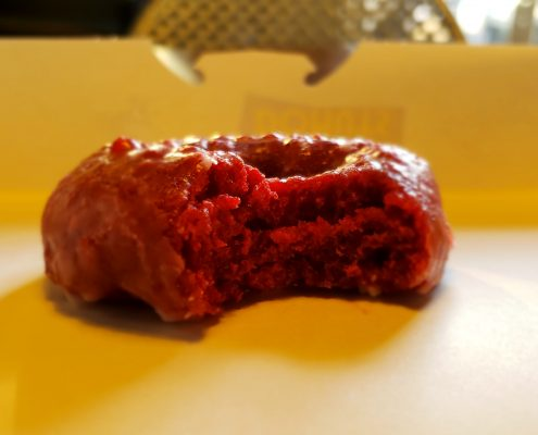 daylight donuts - donut - red velvet cake - bite