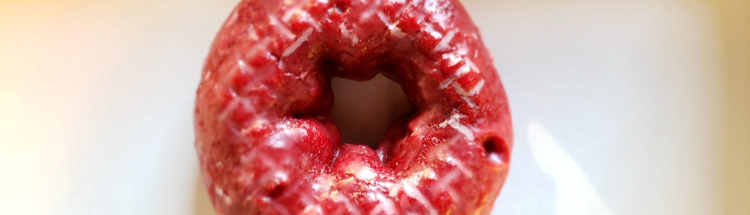 daylight donuts - donut - red velvet cake - top