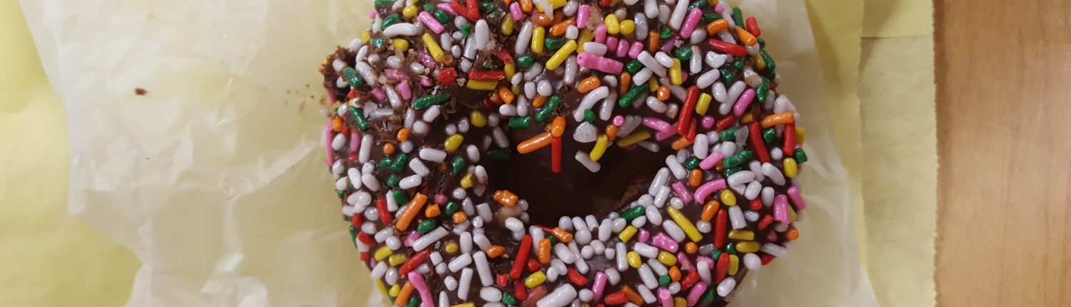 Bob's Chocolate Frosted with Sprinkles - Top